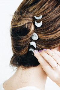 Moon phases hair accessories
