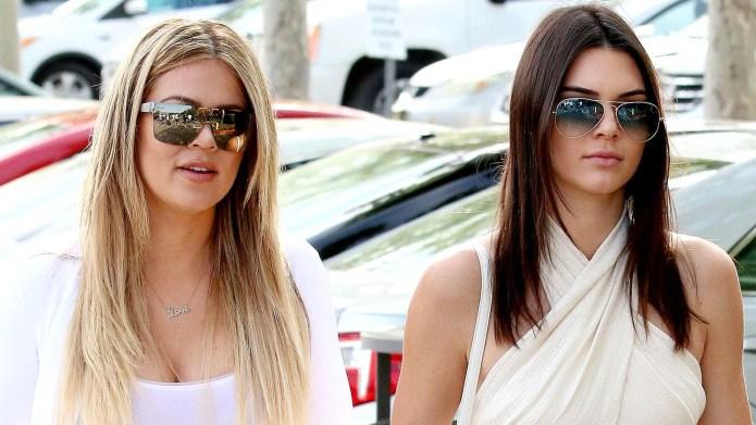 Khloe Kardashian and Kendall Jenner.