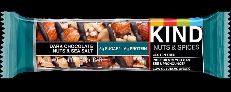 kind dark chocolate sea salt nut bar