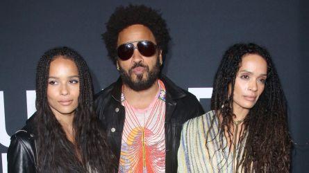 Zoe Kravitz, Lenny Kravitz and Lisa