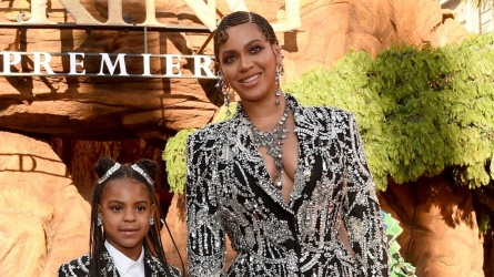 Beyonce and Blue Ivy at 'Lion