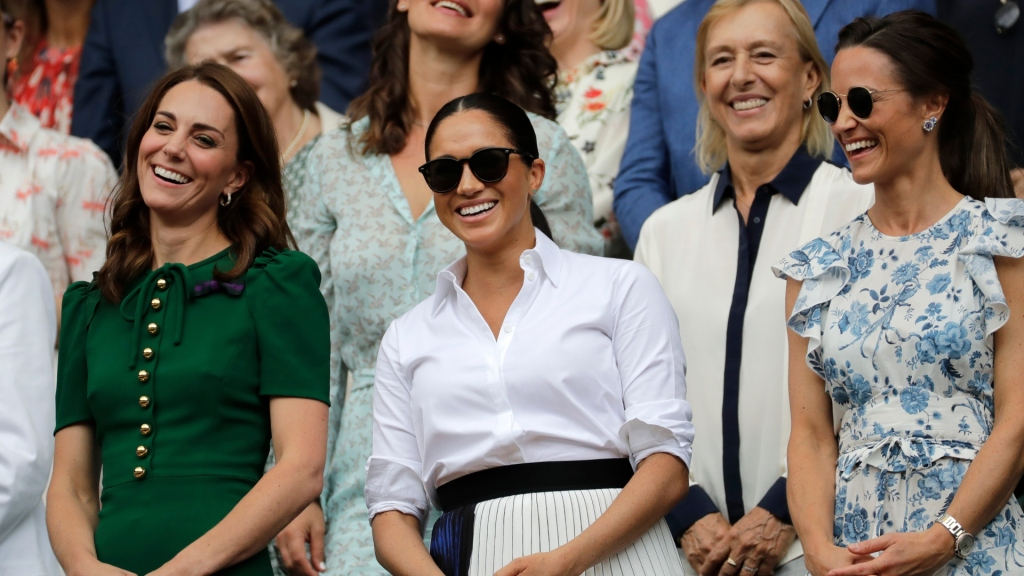 Kate Middleton, Meghan Markle and Pippa Middleton at Wimbledon.