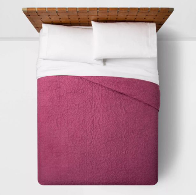 Cute Twin XL Bedding: Opalhouse™ Solid Garment Washed Quilt