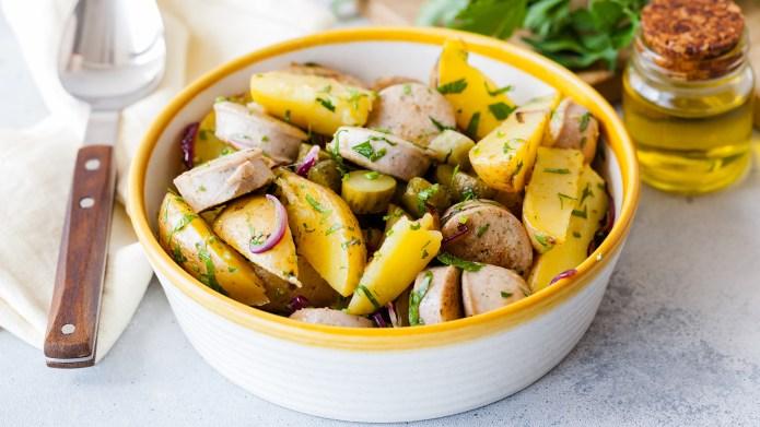 German potato salad; Shutterstock ID 1132487465;