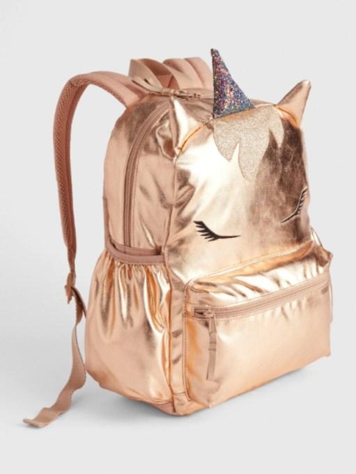 Kids' Metallic Unicorn Senior Backpack.