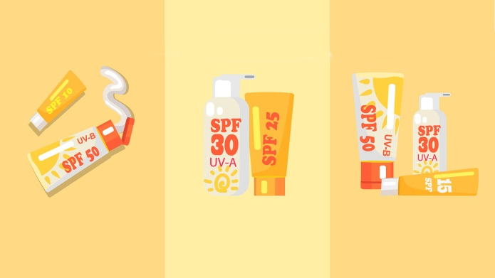 Set of sun safety protection sunscreen