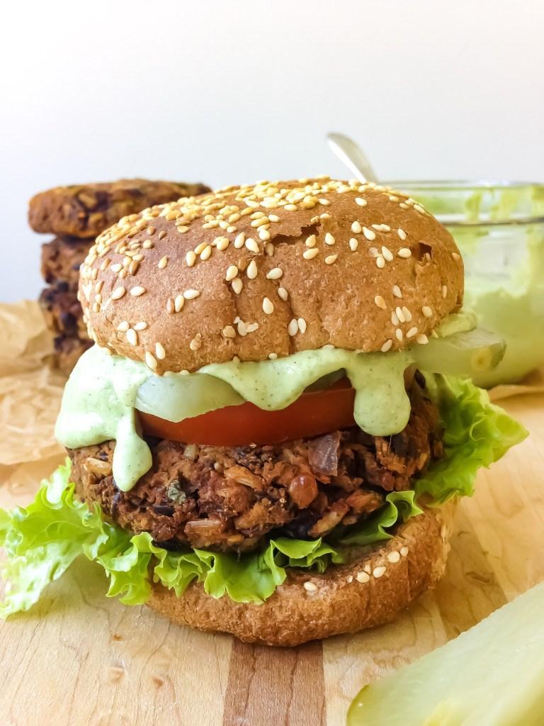 Smoky Barbecue Black Bean Burgers