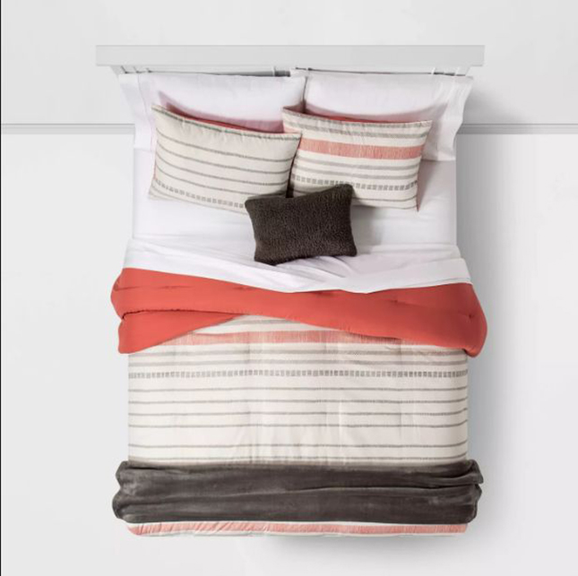 Cute Twin XL Bedding: Room Essentials™ Dash Stripe Bed in a Bag