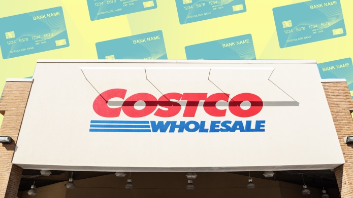 Illustration of Costco with credit cards