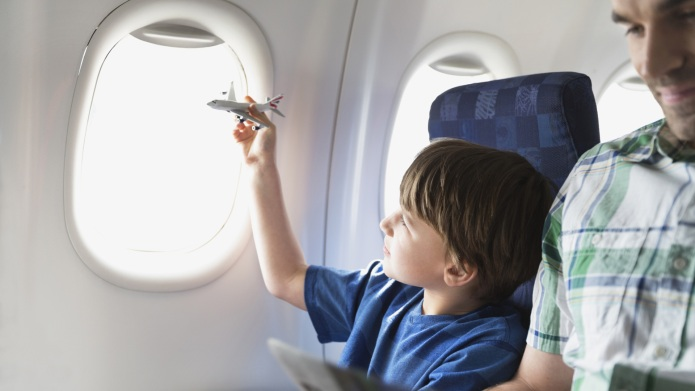 Autistic Boy on Plane