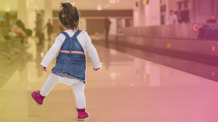 Toddler at airport