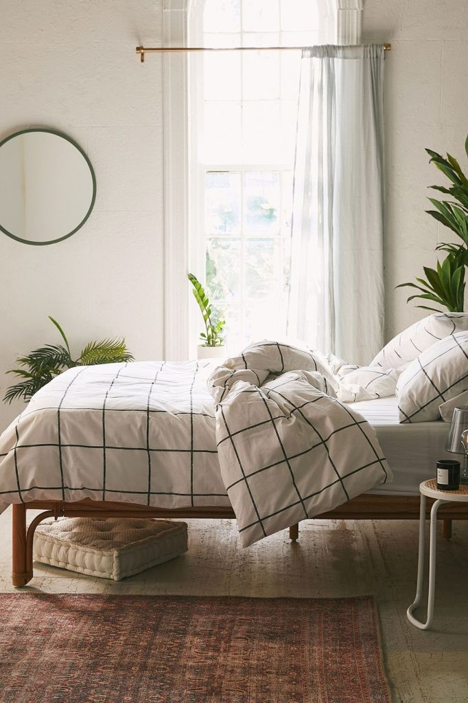 Cute Twin XL Bedding: Urban Outfitters Distressed Check Duvet Set