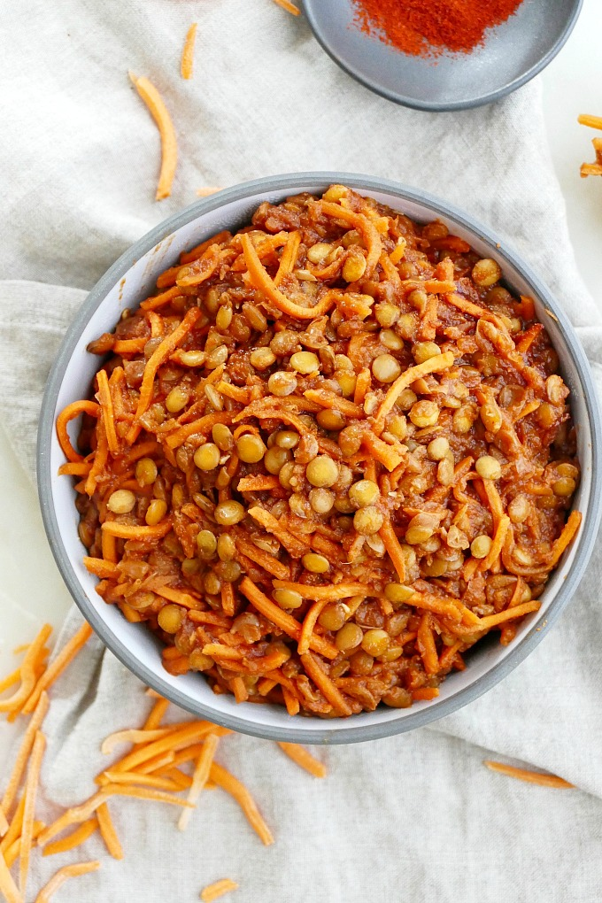 Vegan Barbecue Recipes: Vegan BBQ Lentils and Carrots