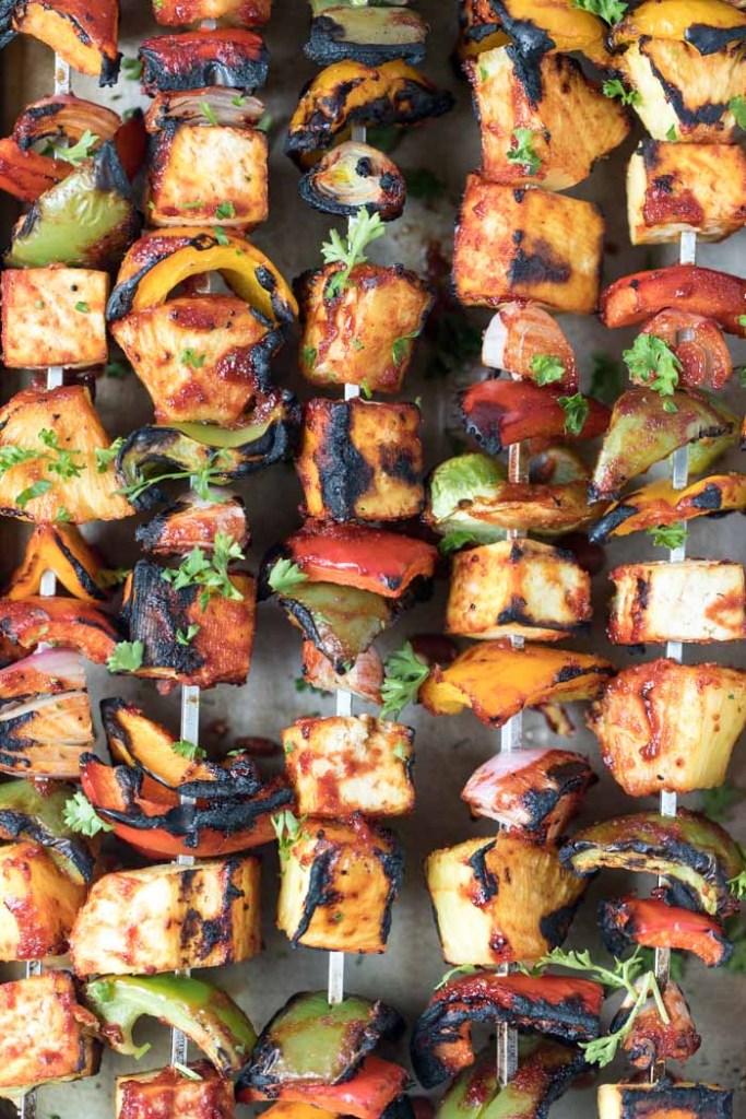 Vegan Barbecue Recipes: Vegan Barbecue Tofu Pineapple Kebabs