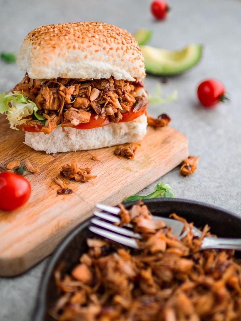 Vegan Barbecue Recipes: Vegan Pulled Jackfruit Sandwiches