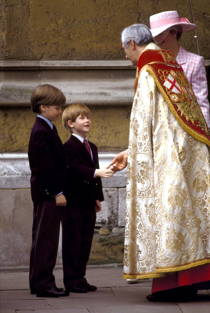 PRINCESS DIANA PRINCE HARRY AND PRINCE WILLIAM AT EASTER SUNDAY SERVICE ST GEORGE'S CHAPEL WINDSOR CASTLE 1991PRINCESS DIANA PRINCE HARRY AND PRINCE WILLIAM AT EASTER SUNDAY SERVICE ST GEORGE'S CHAPEL WINDSOR CASTLE 1991