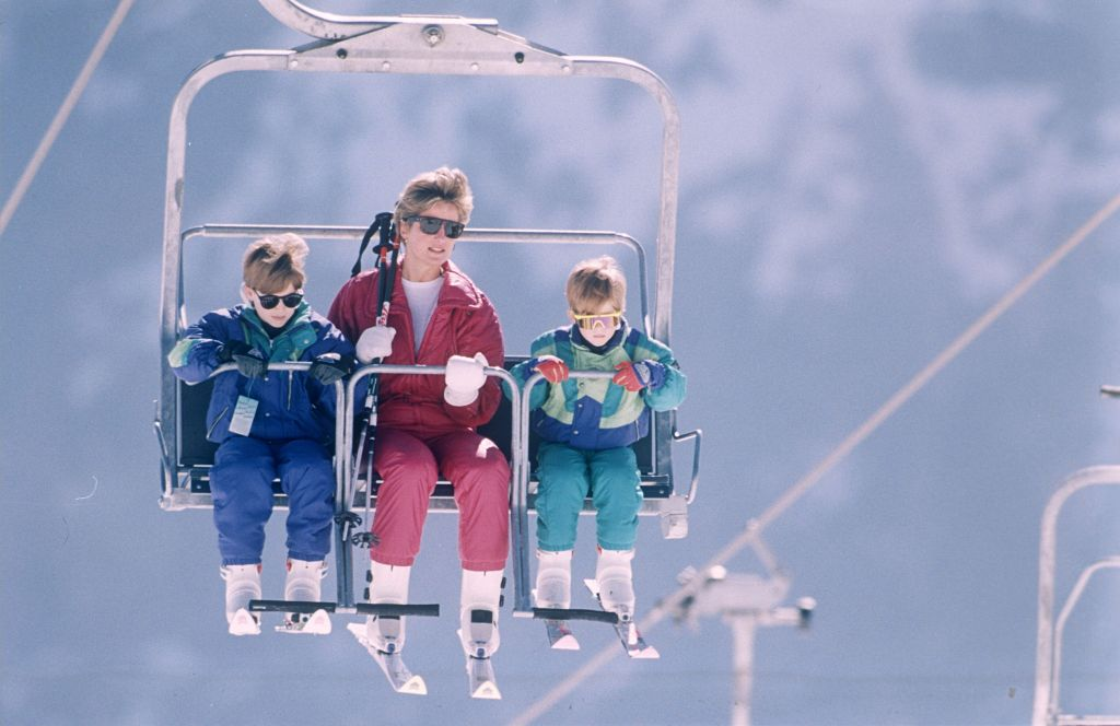 Prince William, Princess Diana and Prince HarryRoyal Skiing Holiday in Lech, Austria - 1991