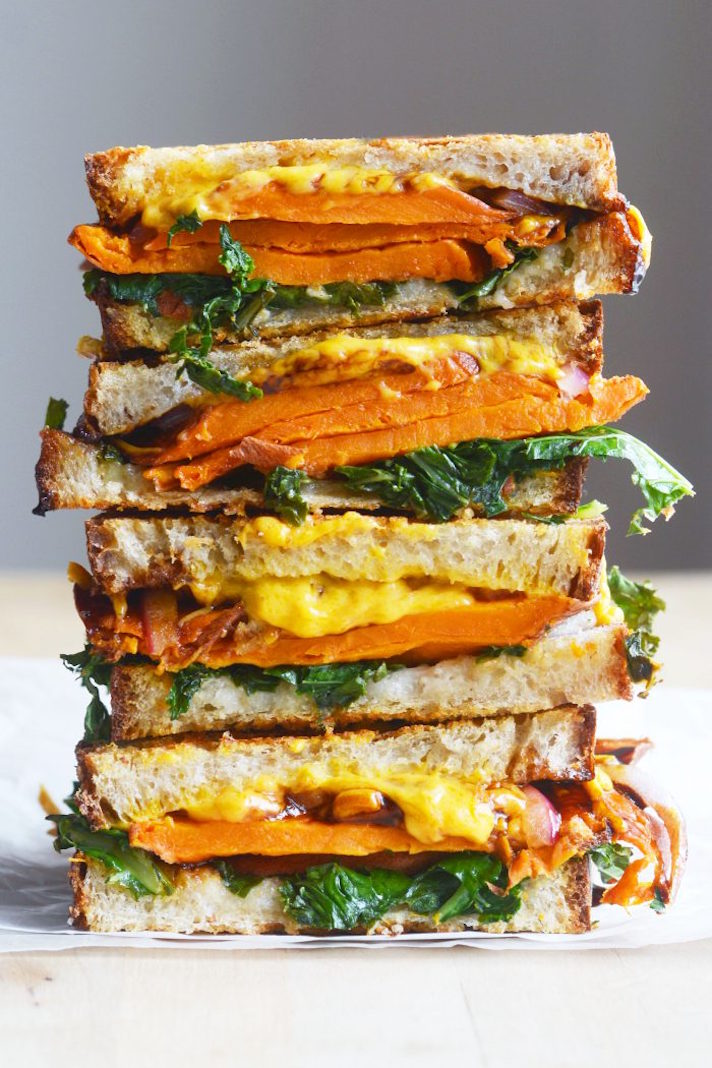 Vegan Balsamic Sweet Potato Grilled Cheese