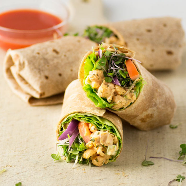 Buffalo Chickpea Wraps