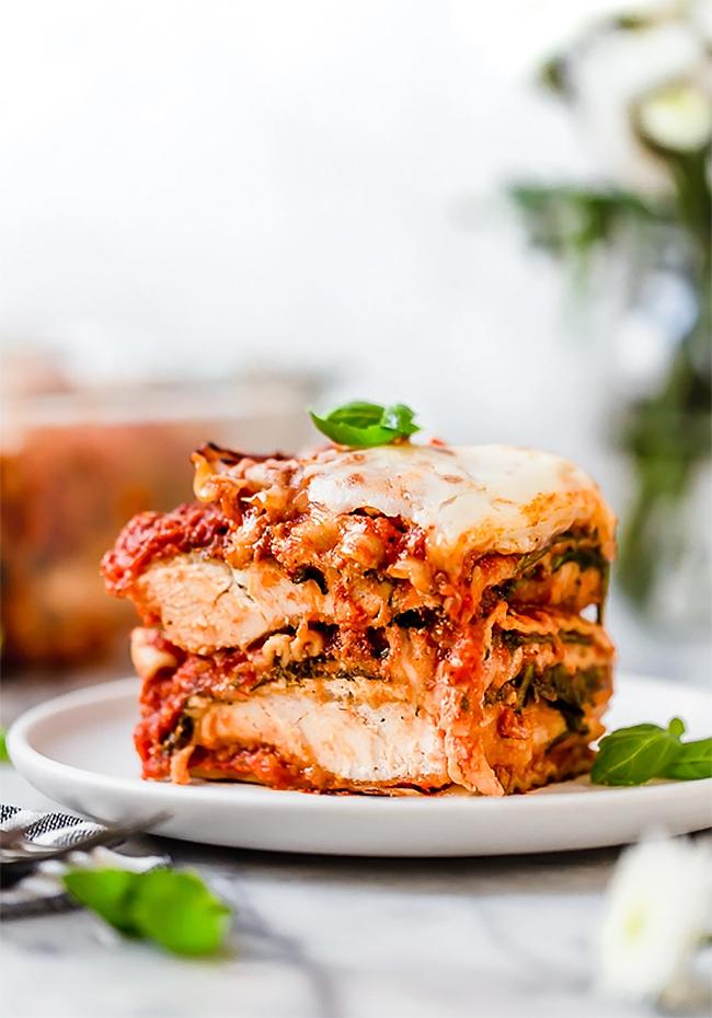 Easy Freezer Meals: Chicken Parmesan Lasagna