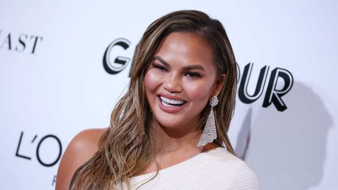 Chrissy Teigen Is Perfectly Comfortable Without a Bra, Thank You Very Much