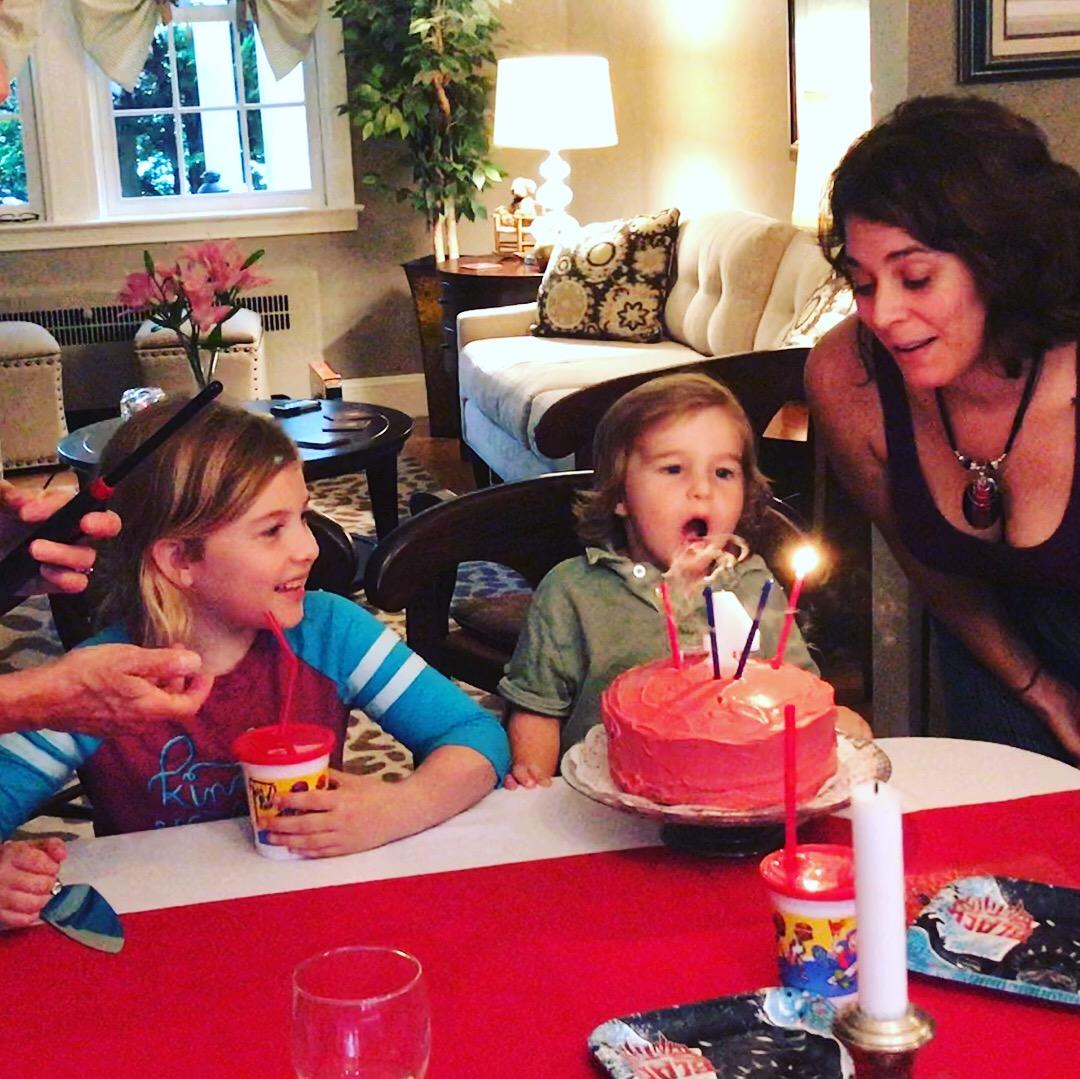 Sarah Bregel and kids birthday