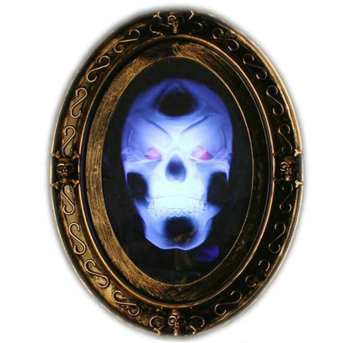 Motion-activated haunted mirror