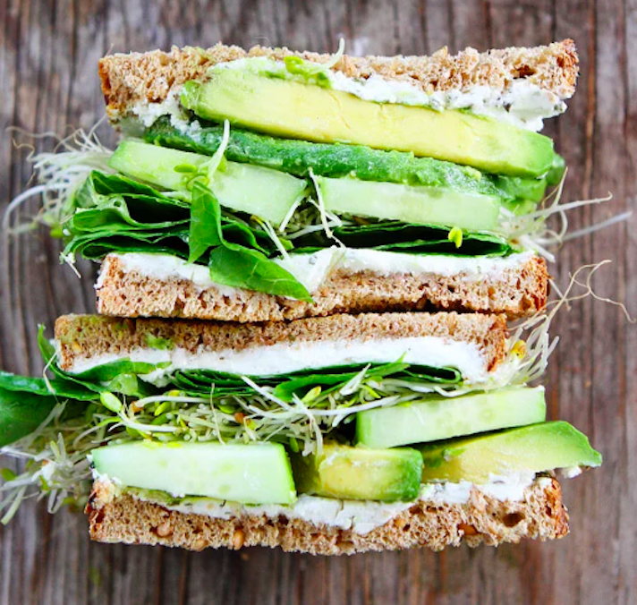 Cucumber-Avocado Sandwich