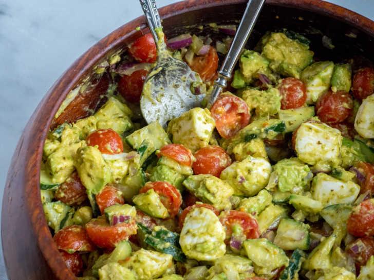Tomato Cucumber Mozzarella Salad