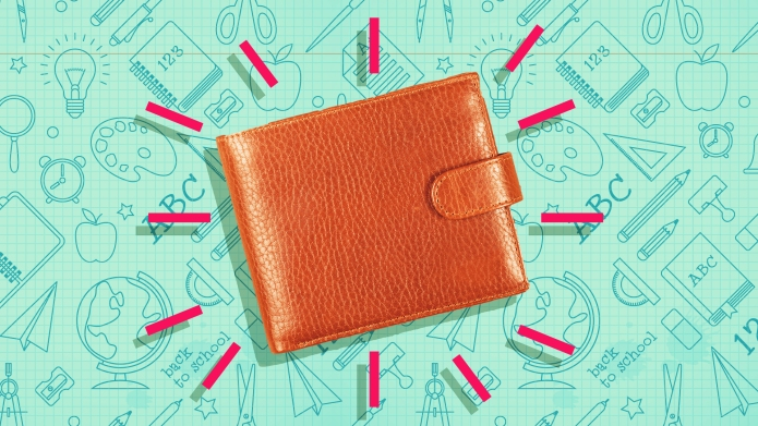 back to school happy wallet