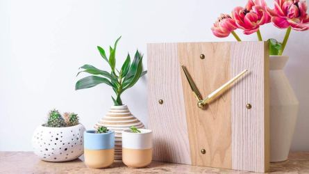 amazon handmade small wood wall clock