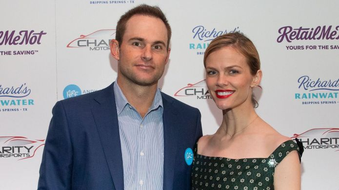Andy Roddick and his wife, Brooklyn
