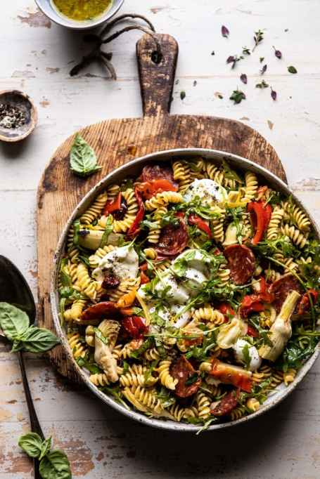 Antipasto Pasta Salad With Herby Vinaigrette