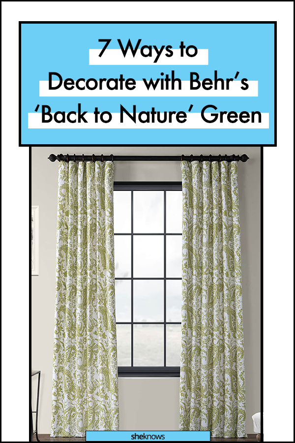 Behr's Color of the Year Back to Nature Green Paint