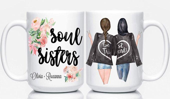 Personalized best friend mugs
