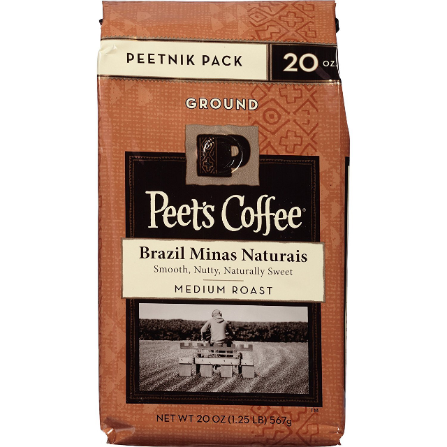 Peet's Coffee Brazil Minas Naturais Medium Roast Ground Coffee