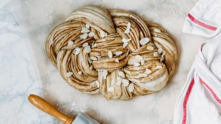 braiding Challah bread dough; Shutterstock ID