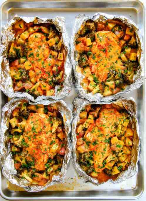 Cheesy Buffalo Chicken Foil Packets