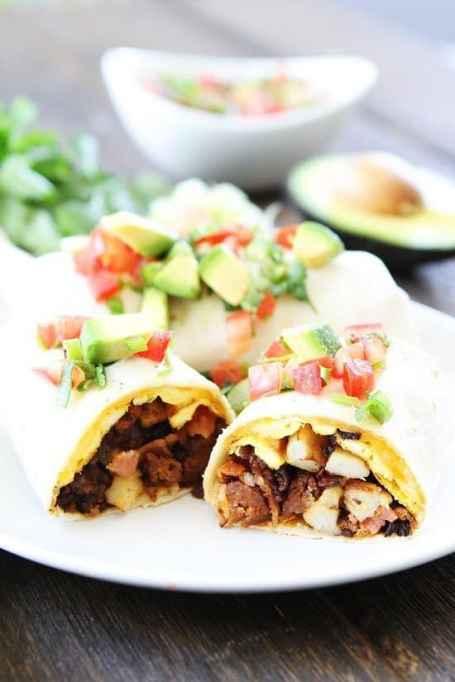 Chorizo & Bacon Breakfast Burrito