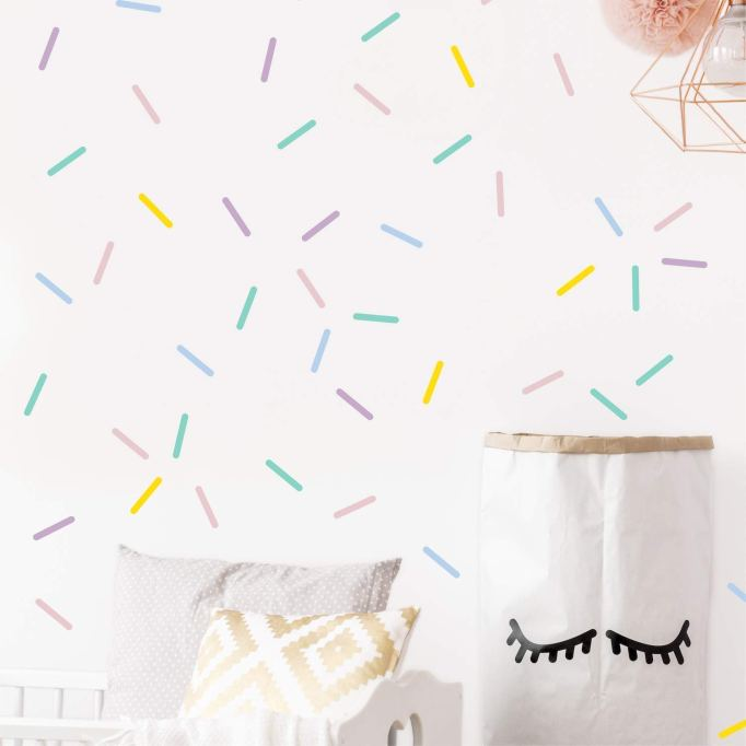 Pastel sprinkles confetti wall decals