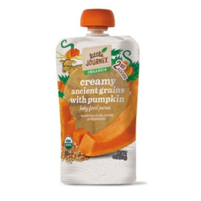 Creamy Ancient Grains With Pumpkin Food Puree.