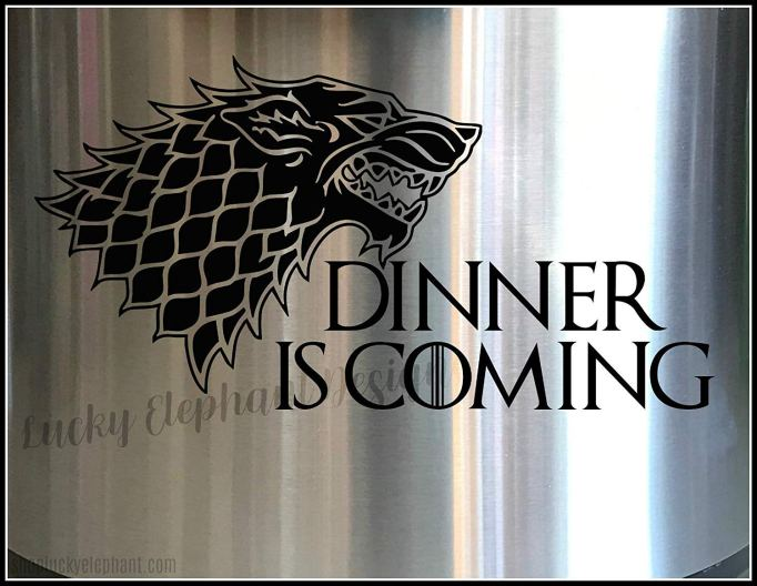 'Dinner is Coming' Instant Pot decal
