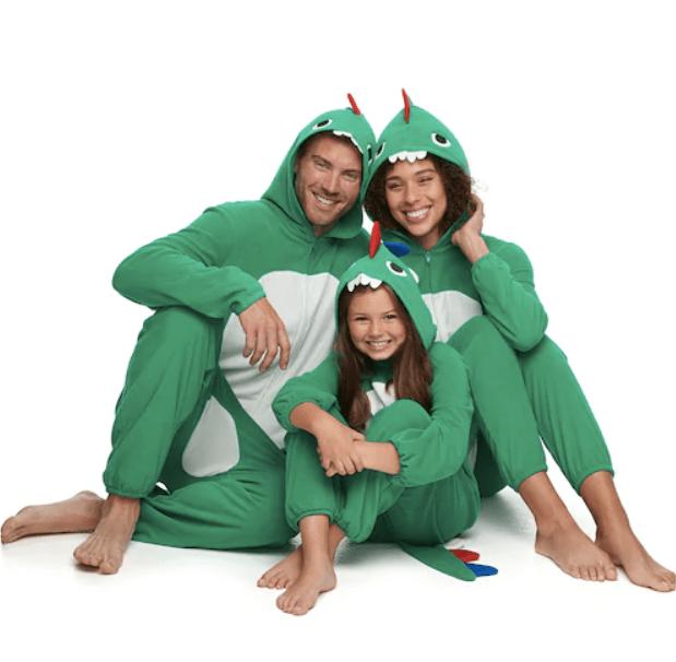 Dino family pajamas