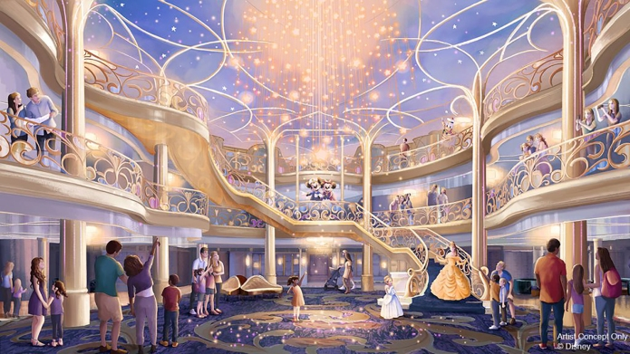 Disney Wish Cruise Ship Atrium