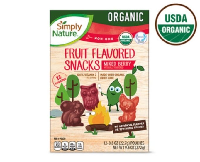 Organic Fruit Flavored Snacks.