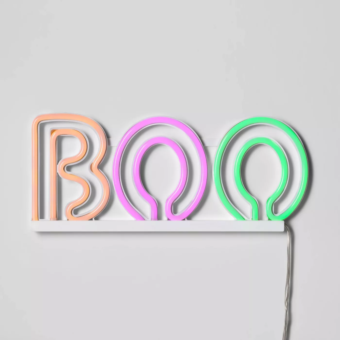 LED Boo Neon Rope Halloween Silhouette Light