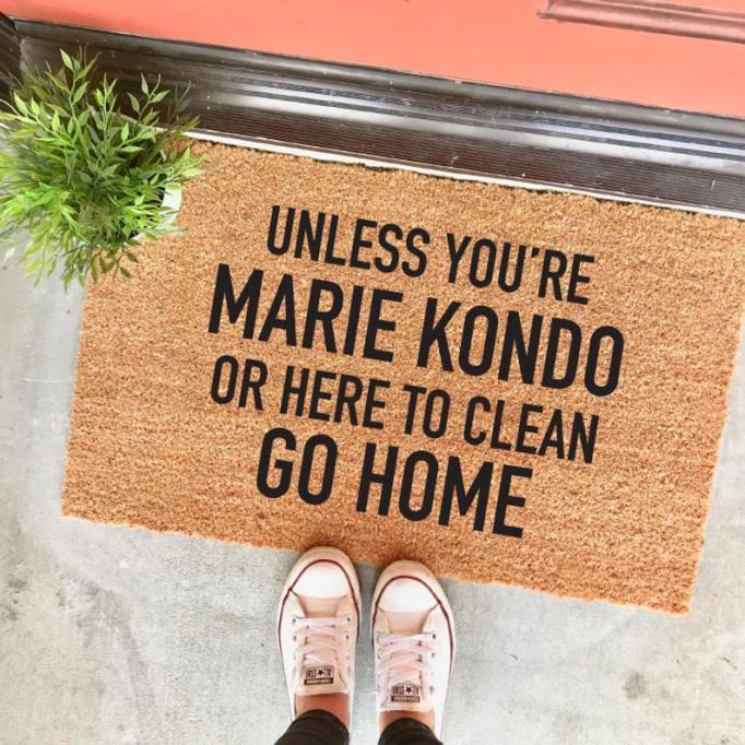 Marie Kondo doormat