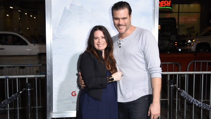 Newlyweds Holly Marie Combs and Mike Ryan.