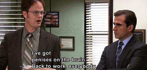 Dwight the Office phallus