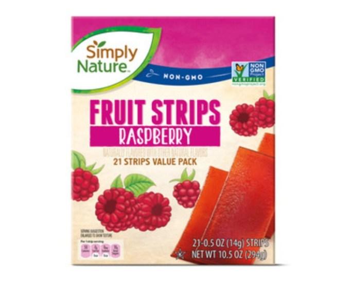 Raspberry Fruit Strips.